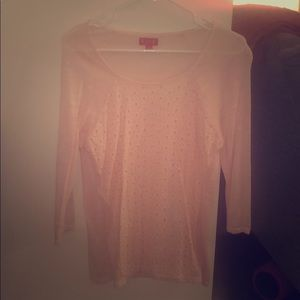 Elle light pink knitted blouse, size Medium